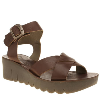 Fly London Tan Year Sandals