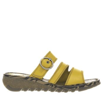 Fly London Yellow Thea Womens Sandals