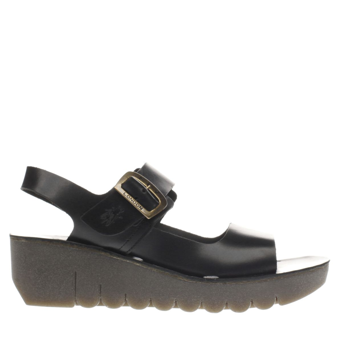 fly london black yail sandals