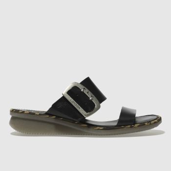 Fly London Black Cape Womens Sandals