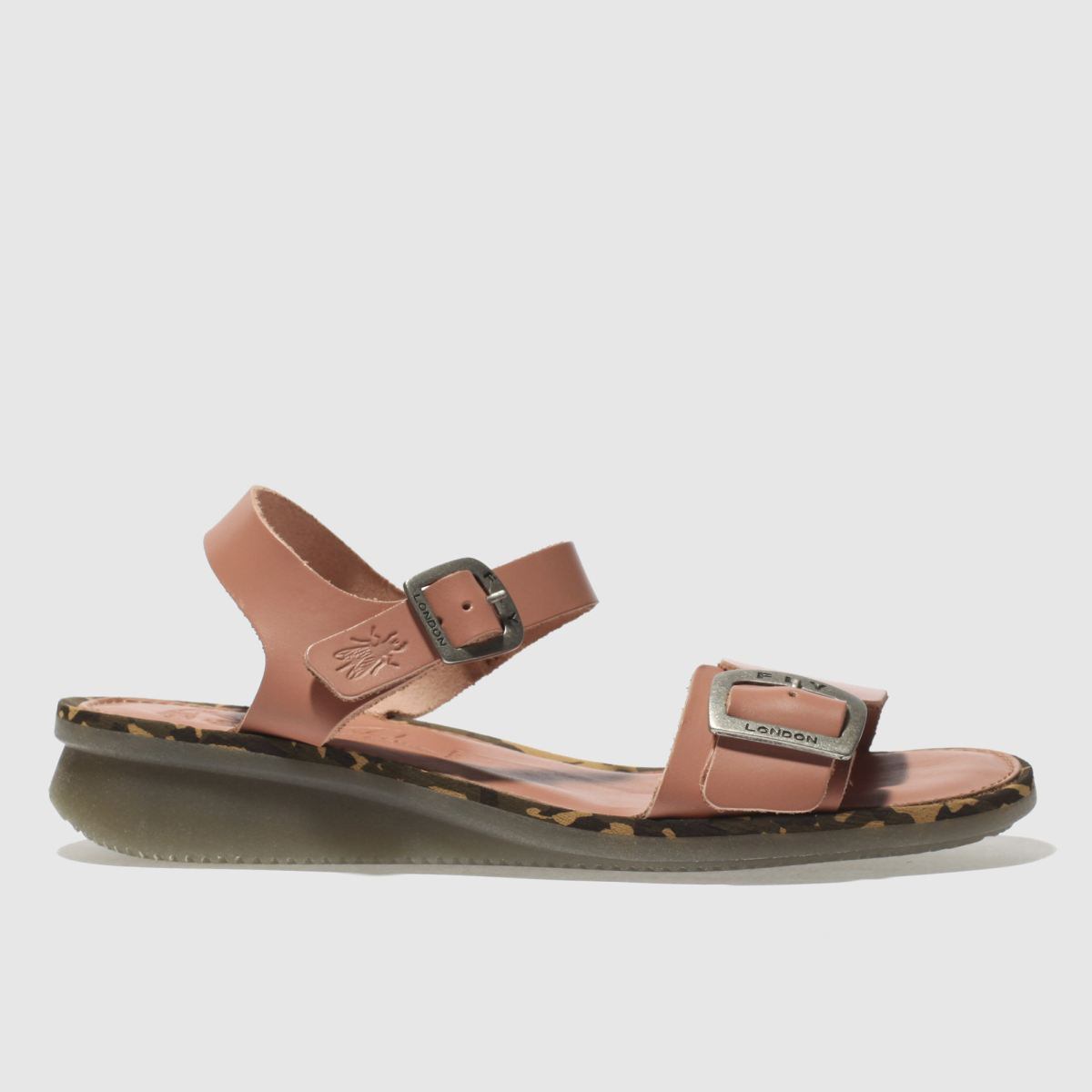 Fly London Pale Pink Comb Sandals