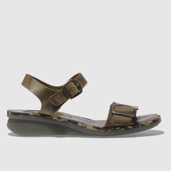 Fly London Tan FLY COMB Sandals
