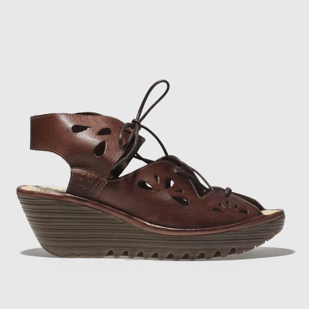 Fly London Brown Yote Sandals
