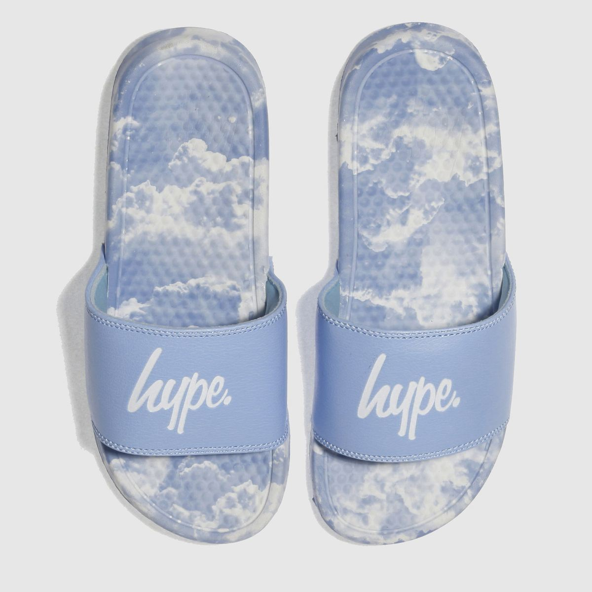 Hype Hype Pale Blue Clouds Slider Sandals