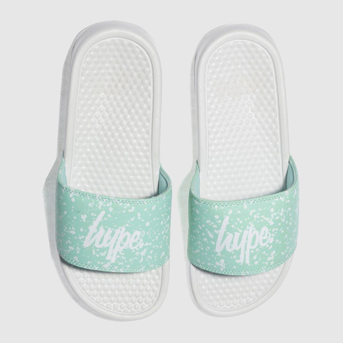 Hype Hype Light Green Speckle Slider Sandals