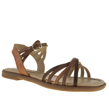 womens hush puppies tan hp caposhi strap sandals