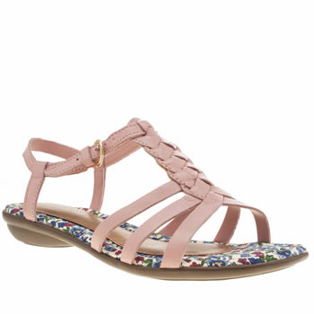Hush Puppies Pale Pink Nishi T-strap Sandals