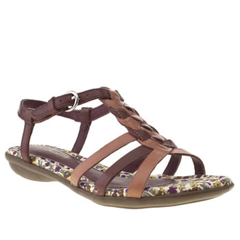 Hush Puppies Purple Nishi T-strap Sandals