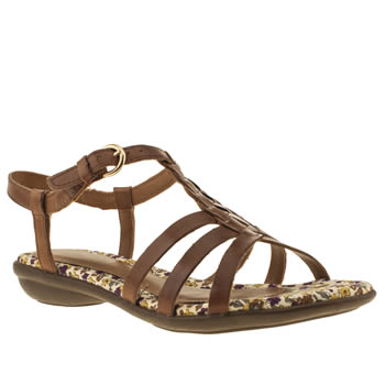 Womens Hush Puppies Tan Nishi T-strap Sandals