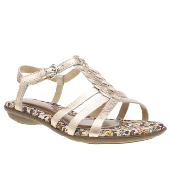 Hush Puppies Bronze Nishi T-strap Sandals