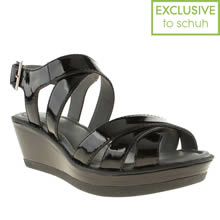 Black Hush Puppies Roux Cross Strap