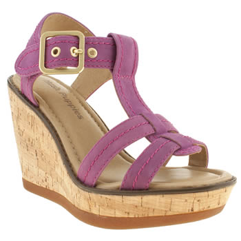 Womens Hush Puppies Pink Cores Sandals