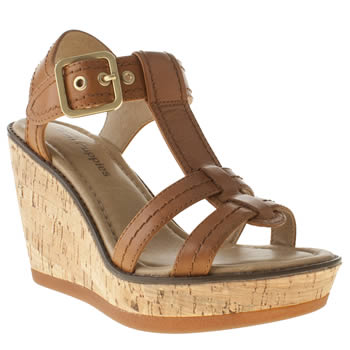 Womens Hush Puppies Tan Cores Sandals