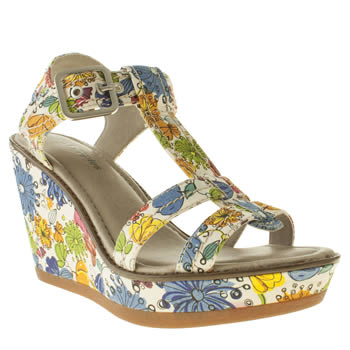 Womens Hush Puppies Multi Cores Floral Sandals