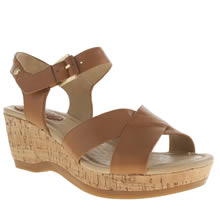 Hush Puppies Tan Eva Farris Sandals