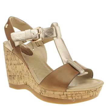 Hush Puppies Tan & Rose Gold Greta Lucca Sandals