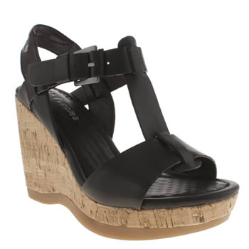 Womens Hush Puppies Black Greta Lucca Sandals