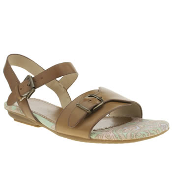 Womens Hush Puppies Tan Faith Buckle Sandals