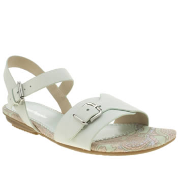 Womens Hush Puppies Light Green Faith Buckle Sandals