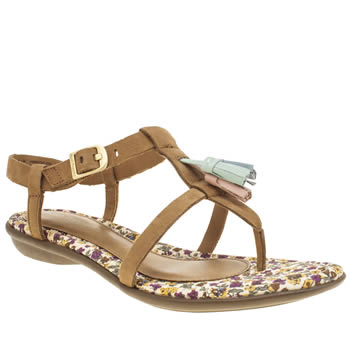 Womens Hush Puppies Tan Jeri Nishi Sandals