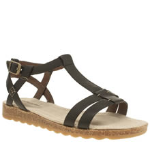 Hush Puppies Black Bretta Jade Sandals