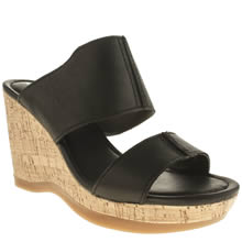 Hush Puppies Black Ena Lucca Womens Sandals
