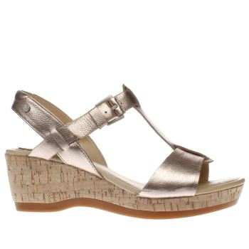 Hush Puppies Gold Penelope Farris Womens Sandals