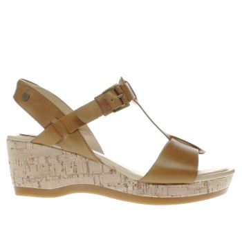 HUSH PUPPIES TAN PENELOPE FARRIS SANDALS