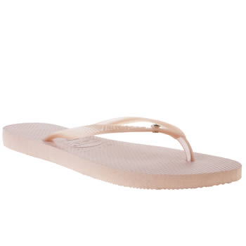 Womens Havaianas Pale Pink Slim Crystal Glamour Sandals