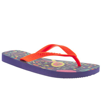 womens havaianas purple fun sandals