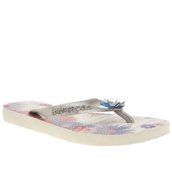 Womens Havaianas White & Silver Caprice Sandals