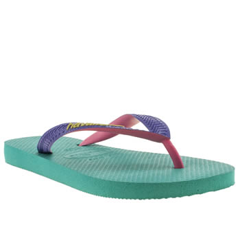 womens havaianas turquoise top mix ii sandals