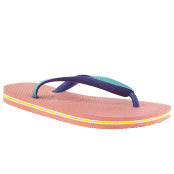 womens havaianas pale pink brasil mix sandals