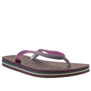 womens havaianas purple brasil mix sandals
