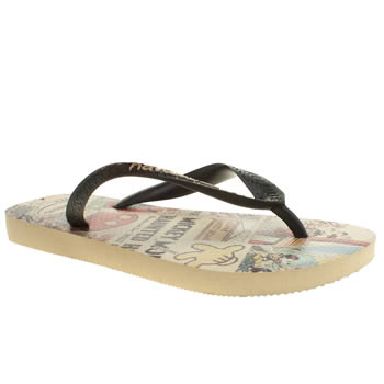 Havaianas Beige & Black Disney Stylish Sandals