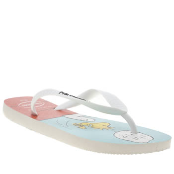 Havaianas White & Black Snoopy Sandals