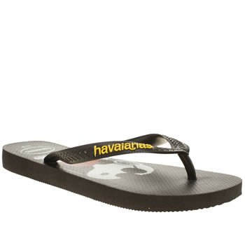 Womens Havaianas Black & White Snoopy Sandals