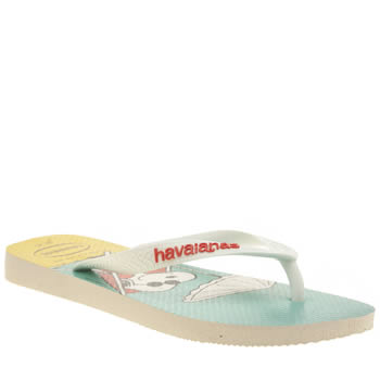 Havaianas White & Blue Snoopy Sandals