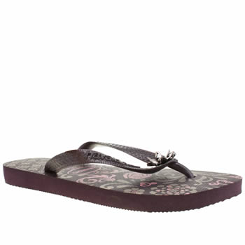 Womens Havaianas Purple Caprice Sandals