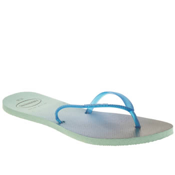 Havaianas Blue Flat Sunset Womens Sandals