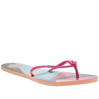 Havaianas Pink Flat Resort Womens Sandals