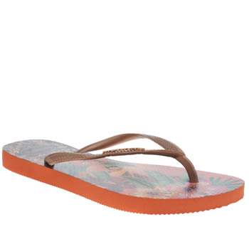 Havaianas Bronze Slim Tropical Womens Sandals