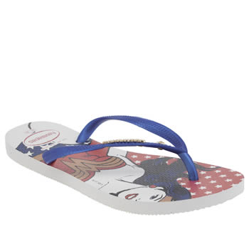 Womens Havaianas Navy & Red Slim Wonder Woman Sandals