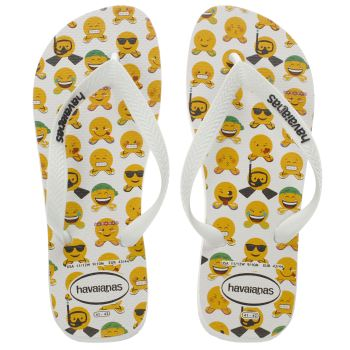 Havaianas White & Yellow Mood Sandals