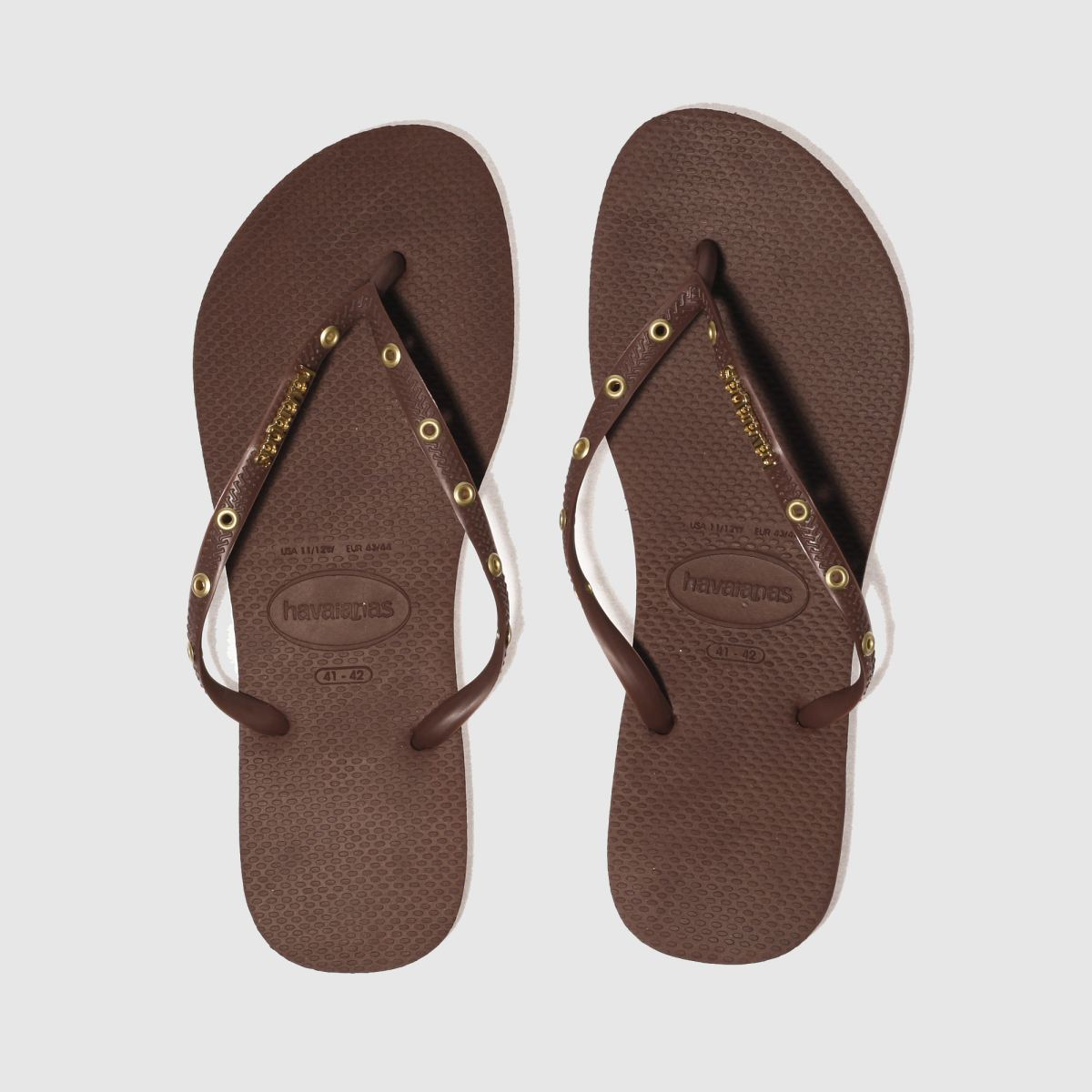 Havaianas Burgundy Slim Hardware Sandals