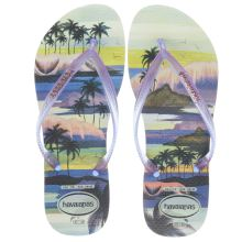 Havaianas Mint Green & Purple Slim Paisage Womens Sandals