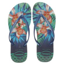 Havaianas Navy & Green Slim Tropical Sandals