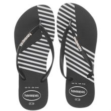 Havaianas Black & White Slim Block Colors Womens Sandals