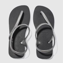 Havaianas Black & Silver Flash Urban Womens Sandals