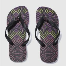 Havaianas Black & Purple Gracia Womens Sandals